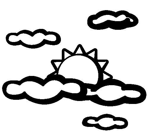 Desenho de Nublado para Colorir