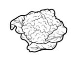 Desenho de O couve-flor para colorear