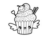 Dibujo de O Cupcake kawaii