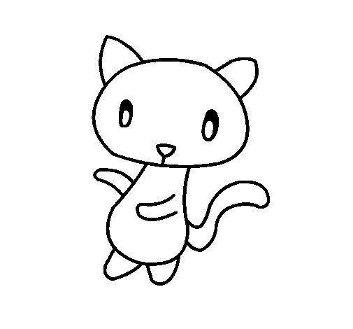 Desenho de O Gato   para Colorir