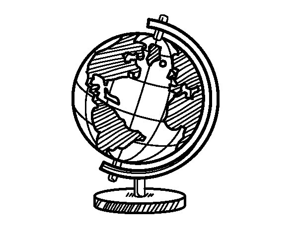 Desenho de O globo terrestre para Colorir