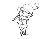 Desenho de O golf para colorear