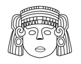 Dibujo de O máscara mexicana
