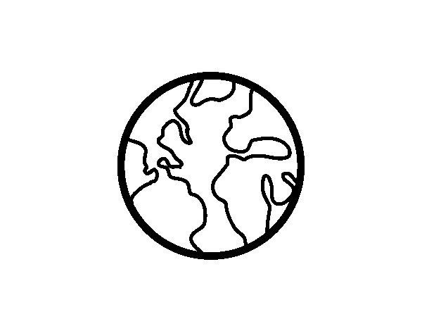 Pinto Dibujos Niños Del Planeta Para Colorear: Desenho De O Planeta Terra Para Colorir