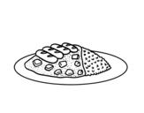 Desenho de O prato de arroz para colorear