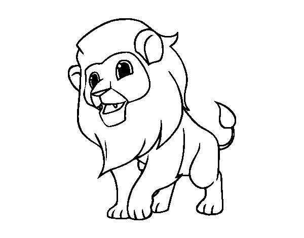 Desenho De Letra Z De Zoológico Para Colorir: Desenho De O Rei Da Selva Para Colorir