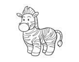Dibujo de O zebra