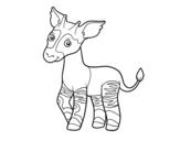 Desenho de Ocapi para colorear