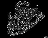 Desenho de Os 101 dálmatas - Un filhote jogando para colorear
