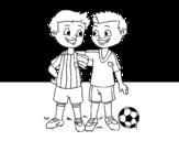 Dibujo de Os colegas de equipe