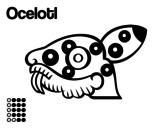 Desenho de Os dias astecas: jaguar Ocelotl para colorear