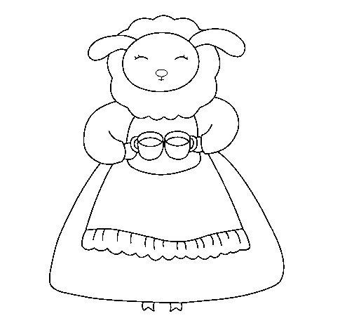 Desenho de Ovelha 3 para Colorir