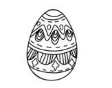 Desenho de Ovo da páscoa com diamantes para colorear