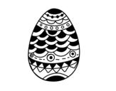 Dibujo de Ovo de Páscoa de estilo japonês