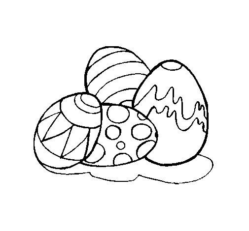 Desenho de Ovos de páscoa para Colorir