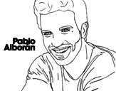 Dibujo de Pablo Alboran  primeiro plano
