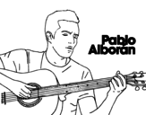 Desenho de Pablo Alborán - Solamente tú para colorear