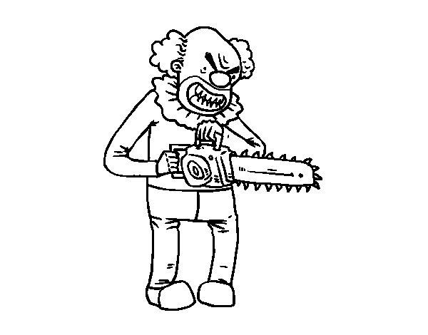 Desenho de palha o assassino para colorir for Disegno pagliaccio da colorare