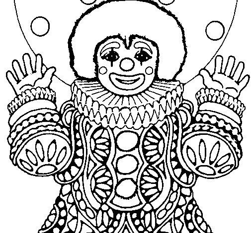 Desenho de Palhaço disfarçado para Colorir