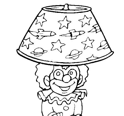 Desenho de Palhaço lâmpada para Colorir