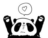 Desenho de Panda amor para colorear