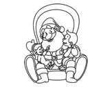 Dibujo de Papai Noel com crianças