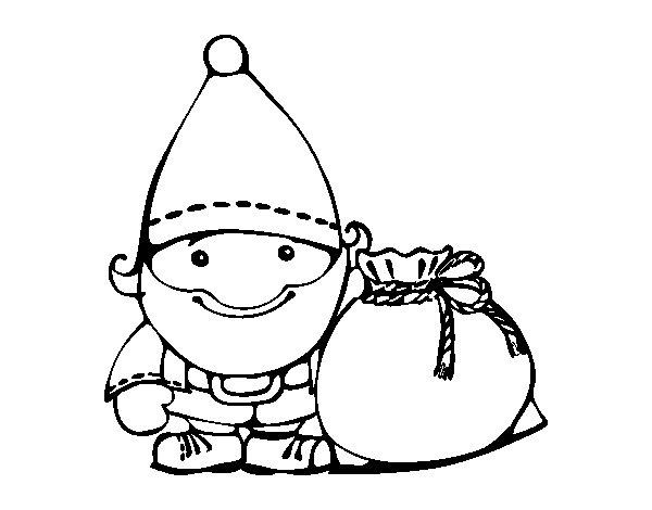 Desenho De Papai Noel Com Seu Saco Para Colorir