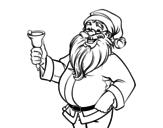 Dibujo de Papai Noel com sino