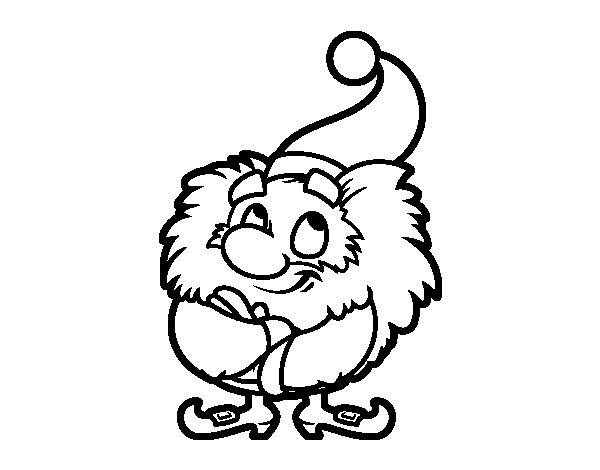 Desenho De Papai Noel Pequeno Para Colorir