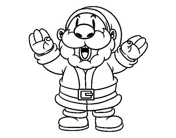 Desenho De Papai Noel Risonho Para Colorir
