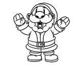 Desenho de Papai Noel risonho para colorear