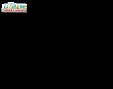 Desenho de Pato Donald vaqueiro para colorear