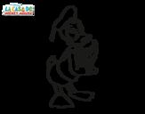 Desenho de Pato Donald para colorear