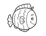 Desenho de Peixe infantil para colorear
