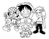 Dibujo de Personagens One Piece