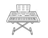 Desenho de Piano Sintetizador para colorear