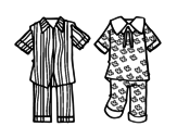 Desenho de Pijamas para colorear