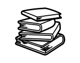 Desenho de Pilha de livros para colorear