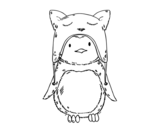 Dibujo de Pinguim com chapéu engraçado