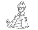 Dibujo de Princesa com cachorro