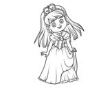 Dibujo de Princesa encantadora
