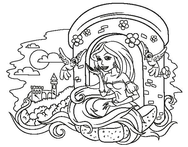 Desenho De Princesa Rapunzel Para Colorir