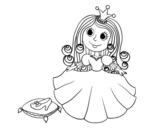 Desenho de Princesa sapatinho de cristal para colorear