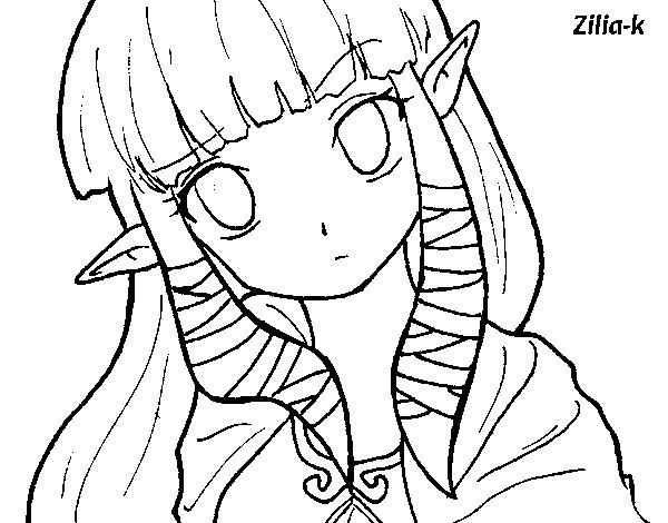 Desenho De Princesa Zelda Para Colorir