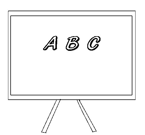 white board coloring pages - photo#6