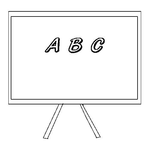 Desenho de Quadro para Colorir
