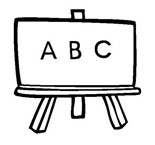 Desenho de Quadro negro para Colorir