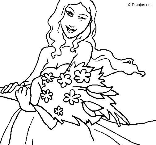 Desenho de Ramo de flores para Colorir