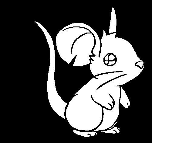 Desenho de Ratinho para Colorir