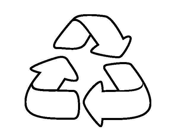 Desenho de Reciclagem para Colorir